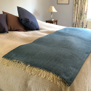 Sky Blue Herringbone Throw