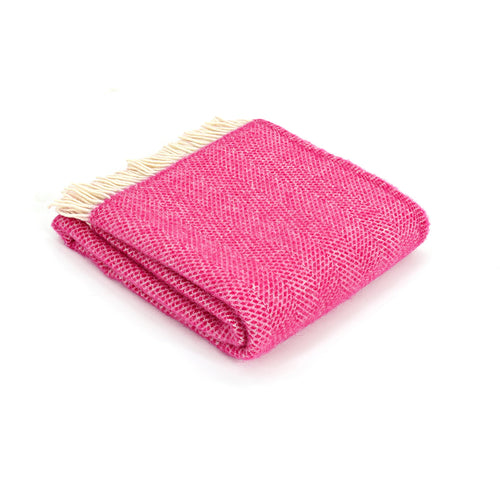 Cerise Beehive Wool Throw