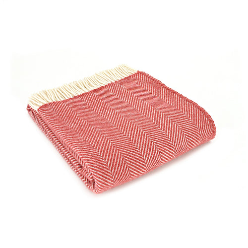 terracotta throw / blanket folded up