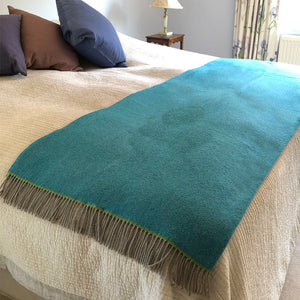 Turquoise wool throw