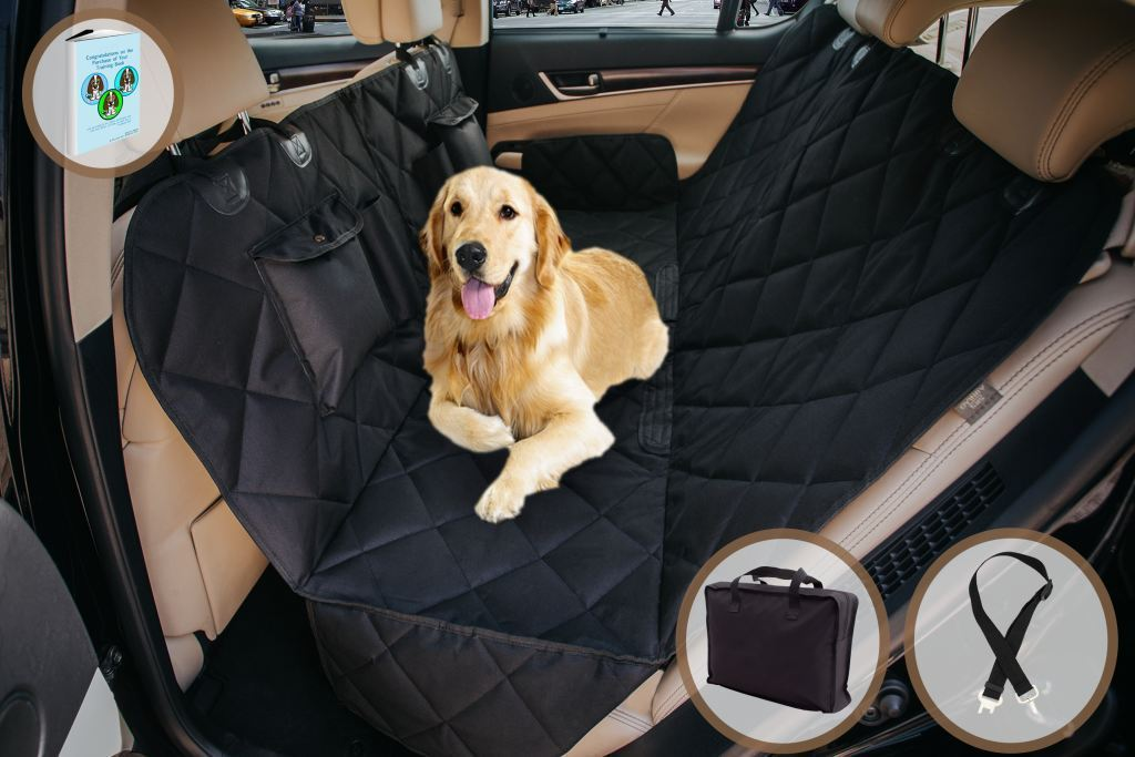 EVOest Dog Seat Cover Dog Car Seat Cover For Cars/Trucks/SUVu0027s With Extra