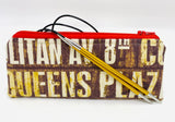 Accessory Bag - The Wee - New York Signs with Red Zipper