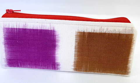 Accessory Bag - The Wee - Color Blocks with Red Zipper