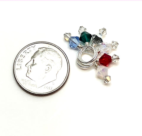 Swarovski Crystal Stitch Markers - DUETS - Holiday Mix