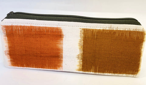 Accessory Bag - The Wee - Color Blocks with Olive Zipper