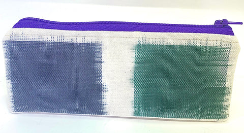 Accessory Bag - The Wee - Color Blocks with Purple Zipper