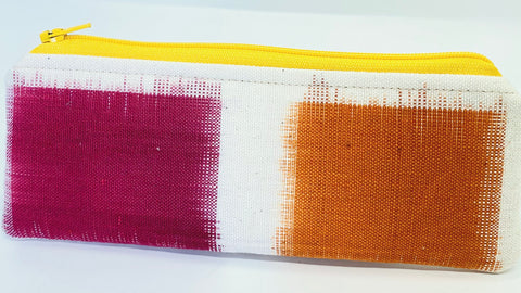 Accessory Bag - The Wee - Color Blocks with Yellow Zipper