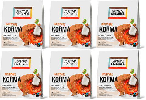 Indisches Korma (6er Vorteilspaket) - Fairtrade Original