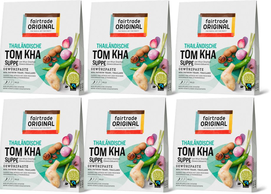 Tom Kha Gewürzpaste für Suppe (6er Vorteilspaket) - Fairtrade Original