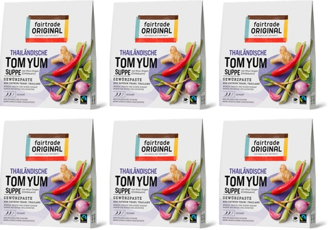 Tom Yum Gewürzpaste für Suppe (6er Vorteilspaket) - Fairtrade Original