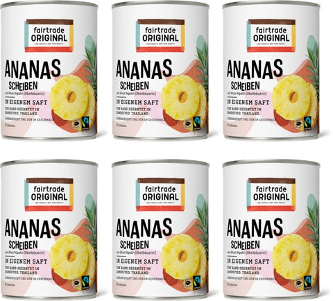 Ananas in der Dose - 6er Vorteilspaket - Fairtrade Original