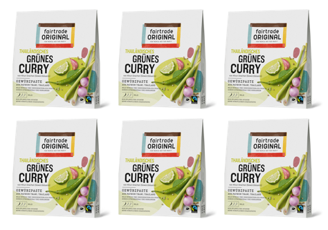 Grüne Currypaste (6er Vorteilspaket) - Fairtrade Original