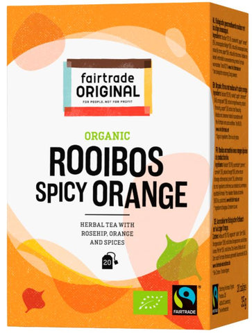 Rooibos Orangen Tee, Bio, Fairtrade, 20x1,75g - Fairtrade Original