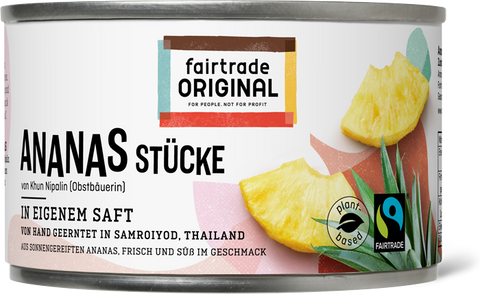 Ananasstücke in der Dose - Fairtrade Original
