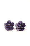 Flower Earrings in leather