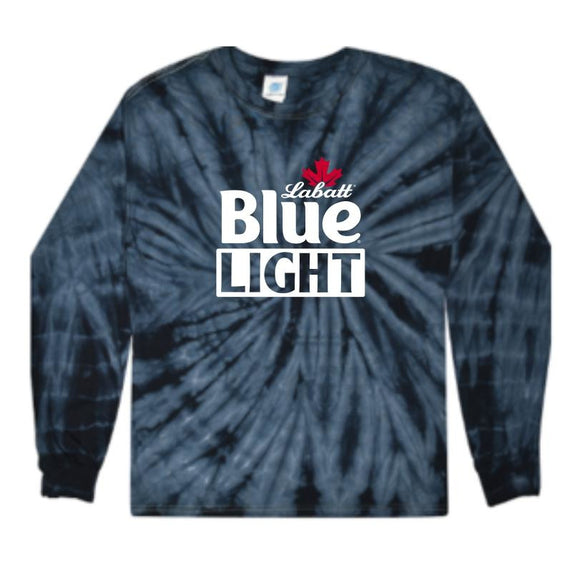 Colortone Labatt Blue Light Long Sleeve Tie Dye Tee