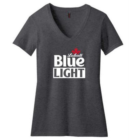 Labatt Blue Light Women's Short Sleeve V-Neck Tee
