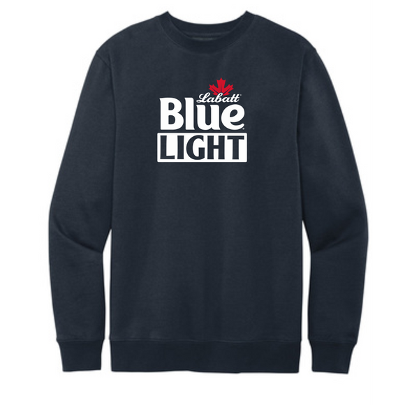 District Men's VIT Labatt Blue Light Crew Fleece Sweatshirt