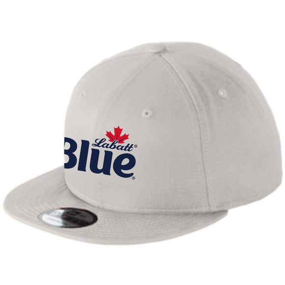 Labatt Blue New Era Light Grey Flat Bill Snapback Cap