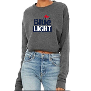 Labatt Blue Light Ladies Cropped Fleece