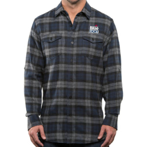 Labatt Blue Light Plaid Flannel