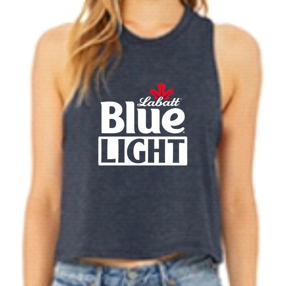 Labatt Blue Light Ladies Cropped Racerback Tank