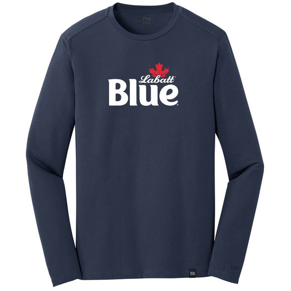 Labatt Blue New Era Men's Navy Heritage Blend Long Sleeve Crew Tee