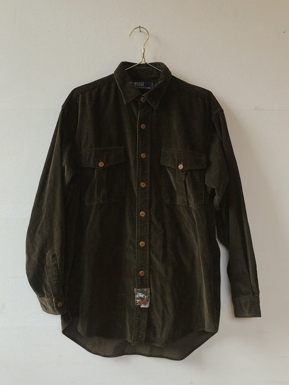 RALPH LAUREN CORDUROY BUTTON-UP