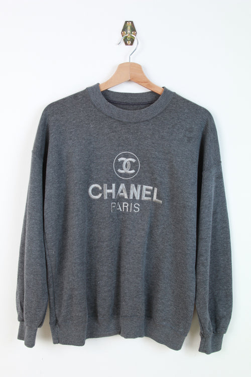 CHANEL BIG LOGO BOOTLEG SWEATER