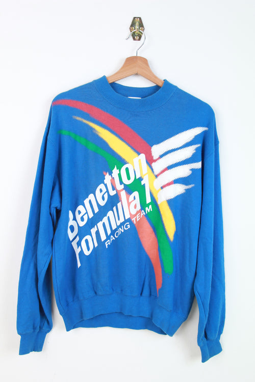Benetton Formula 1 Racing Team Print Sweater