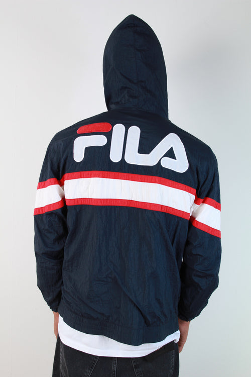 FILA BACK LOGO HOODED WINDBREAKER