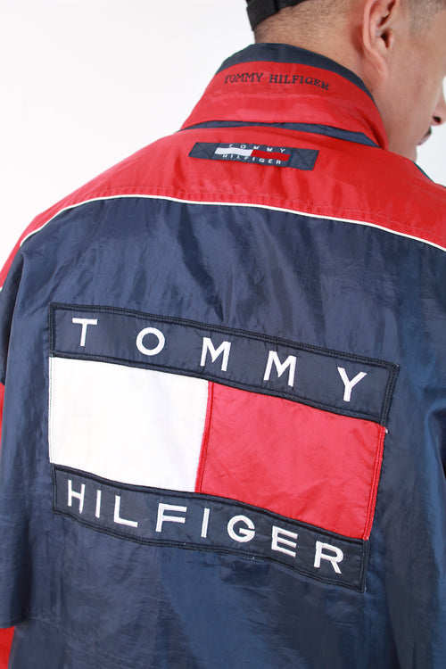 TOMMY HILFIGER BIG LOGO HOODED WINDBREAKER