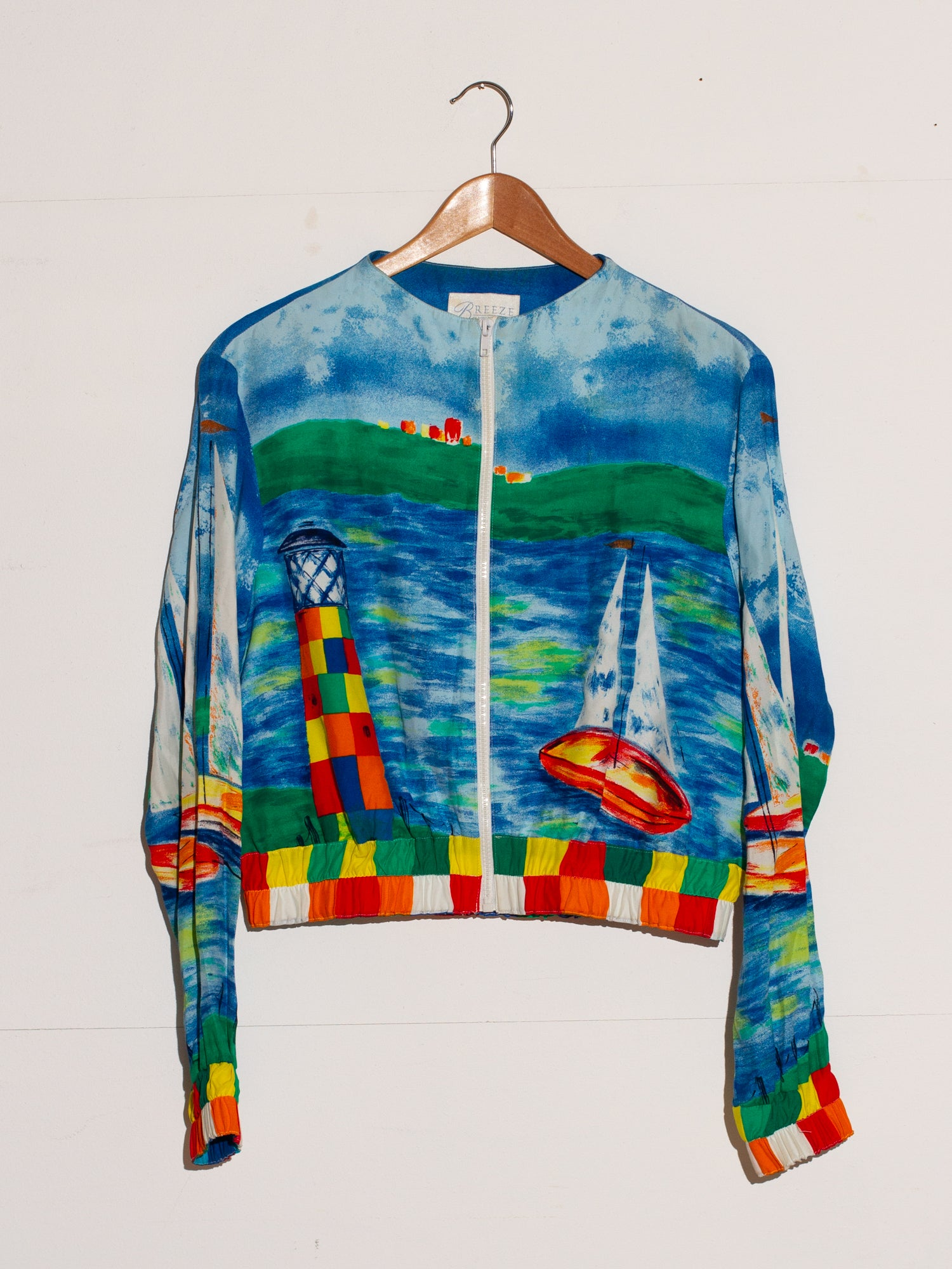 BREEZE SAILOR PRINT JACKET