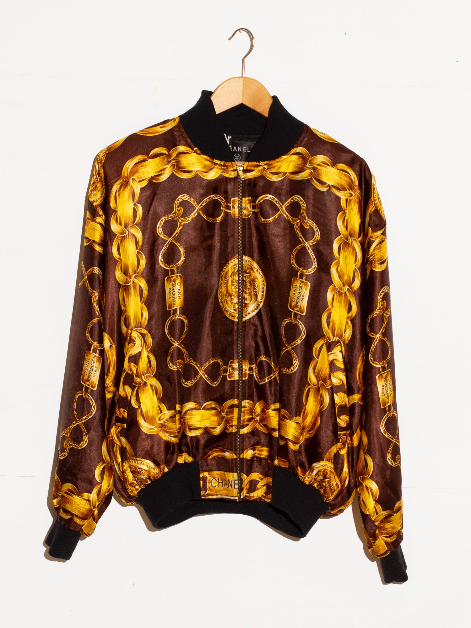CHANEL INSPIRED SILK BOMBER JACKET