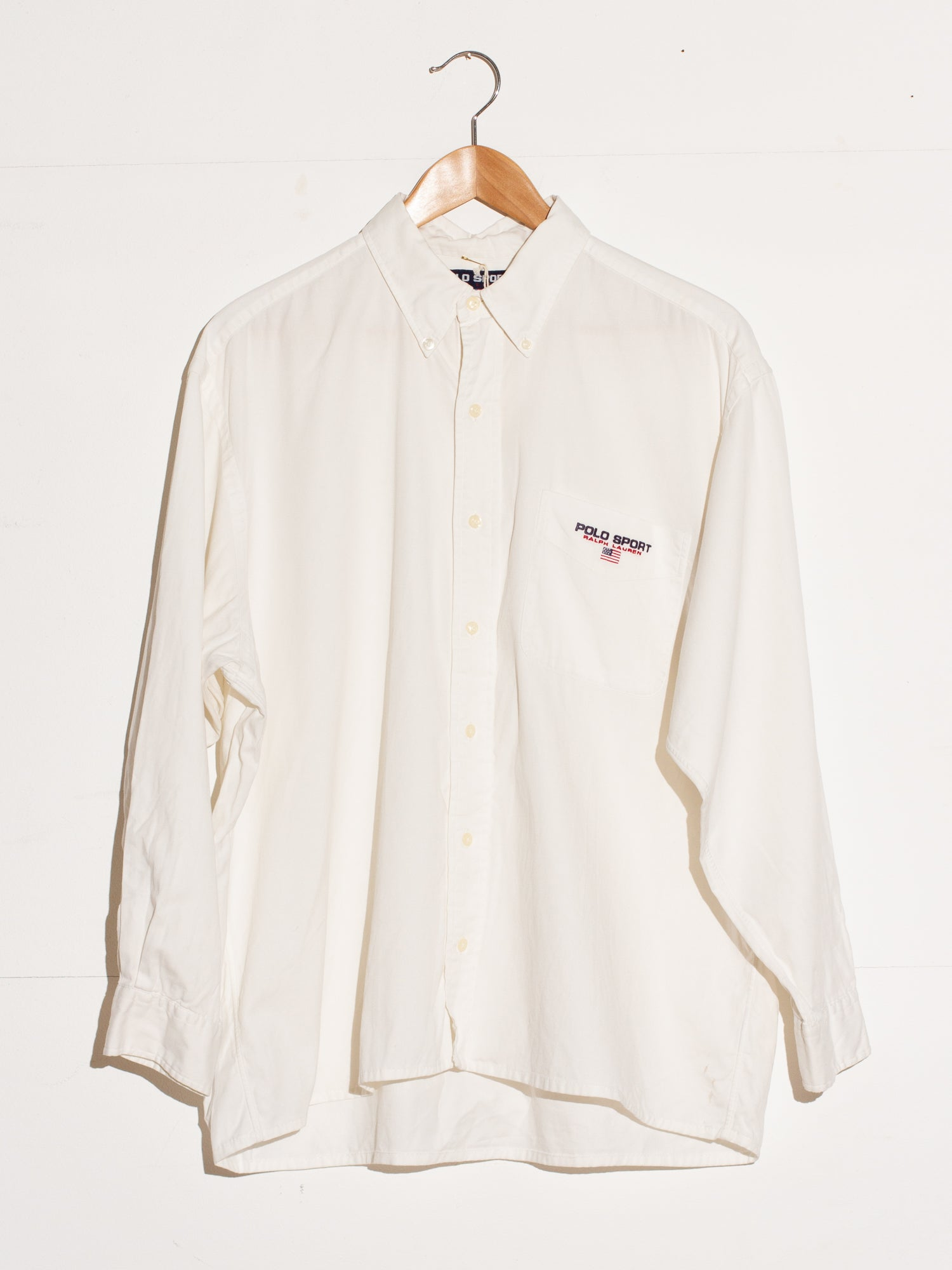 POLO SPORT BY RALPH LAUREN CLASSIC WHITE BUTTON UP