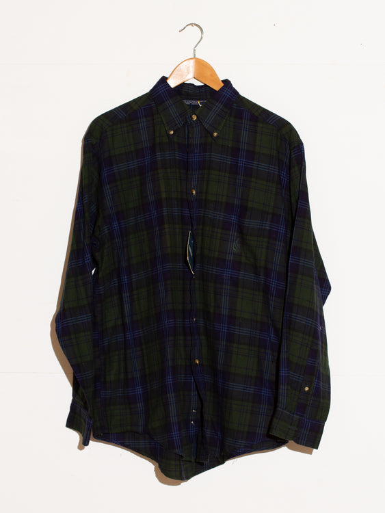NAUTICA CHECK BUTTONUP