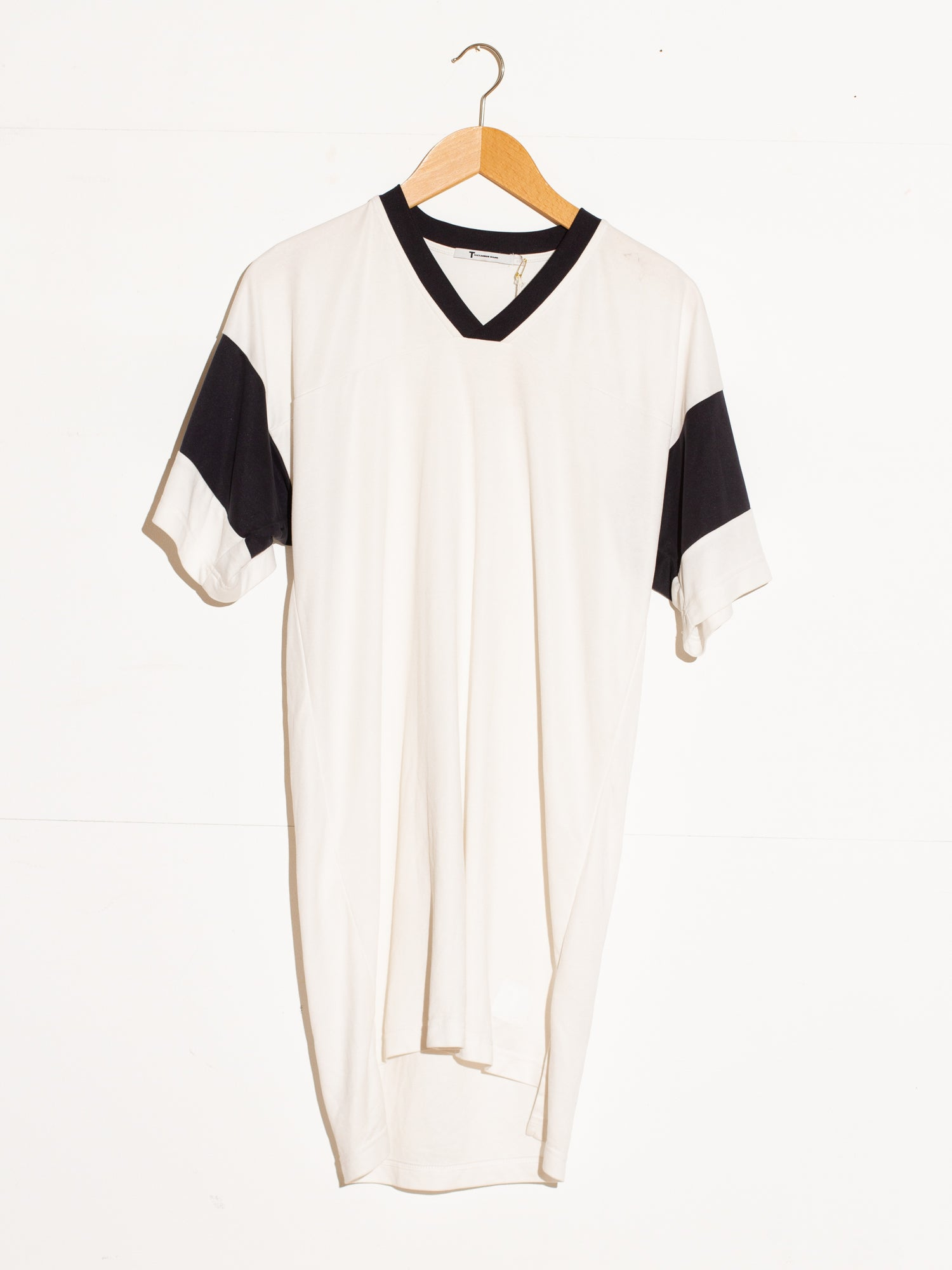 T BY ALEXANDER WANG FOOTBALL TEE DRESS