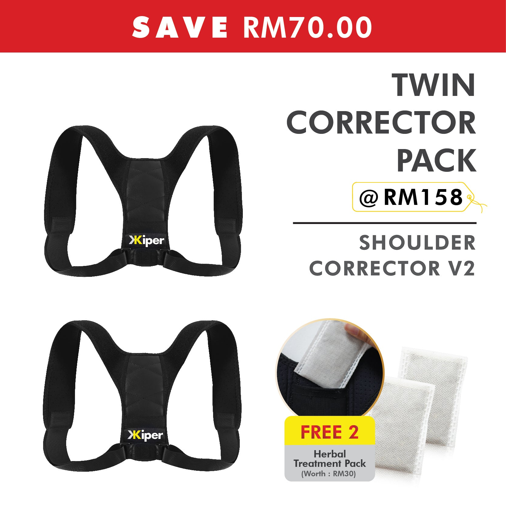Twin Corrector Pack Kiper Essentials Shoulder Corrector V2