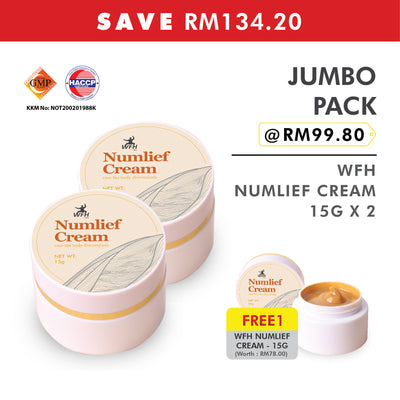 Jumbo Pack of WFH Numlief Cream - 15g