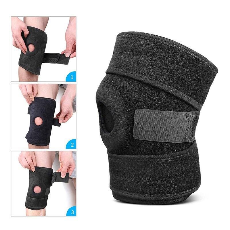 Willem Men Women Knee Support Brace Adjustable Elastic Sports Training Professional Protective Knee Pads Running Sports Safety Care Photos how to use