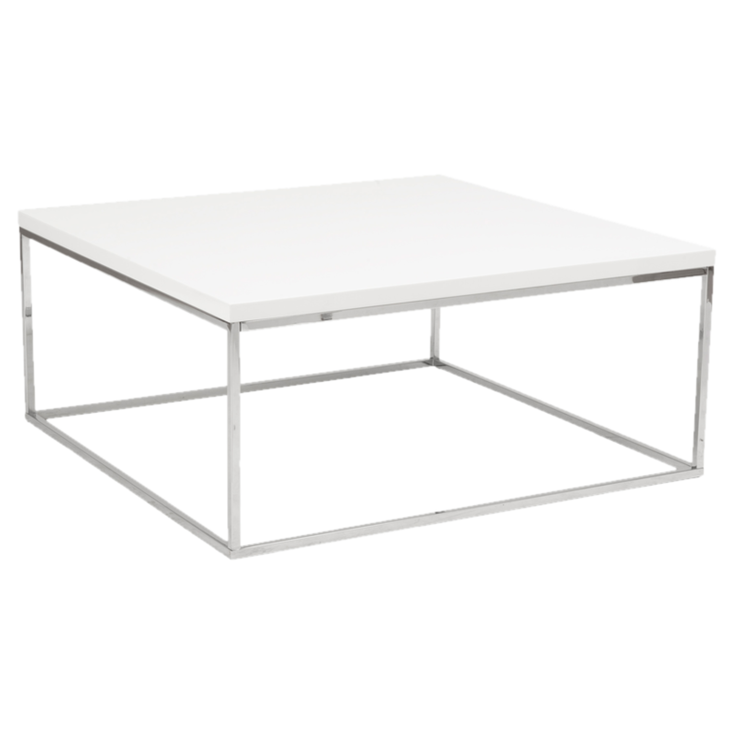 Heights White Square Coffee Table