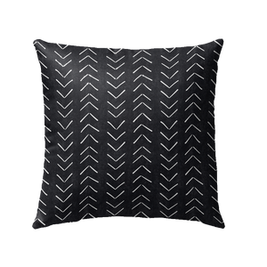 Mudcloth Pillow (Black)
