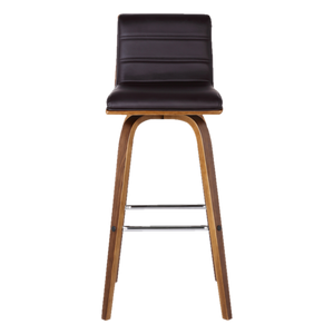 Leather Swivel Stool