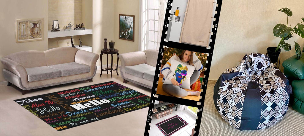 Shop unique home interior products rugs throw pillows mugs bean bags