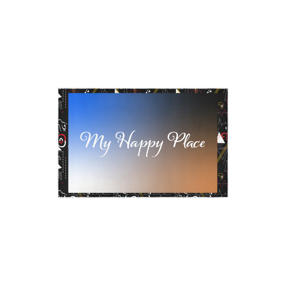 'My Happy Place' Galaxy Accent Area Rug