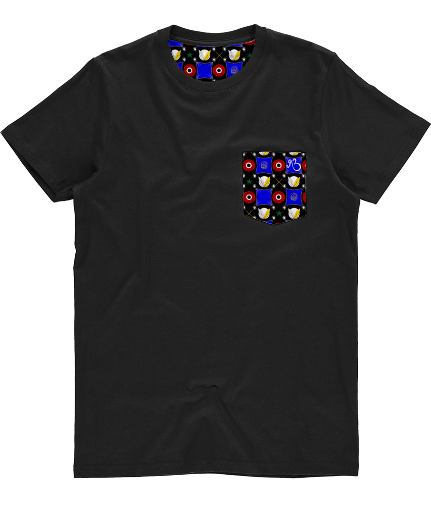 Unisex Pocket Tee - Noir Inception Print