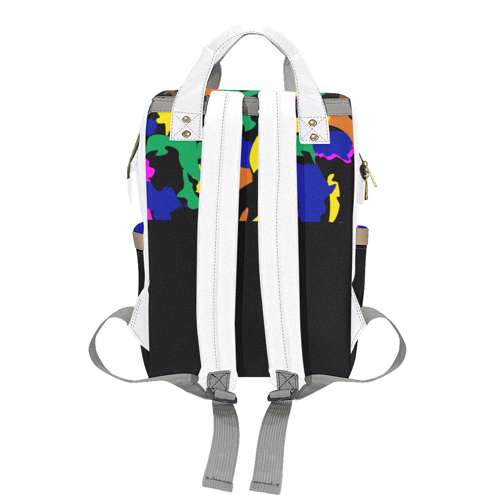 AfriBix Camo Print Multi-Function Backpack