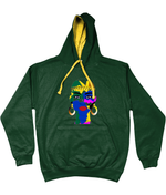 AfriBix Camo Warrior Unisex Hoodie with a contrast hood and string