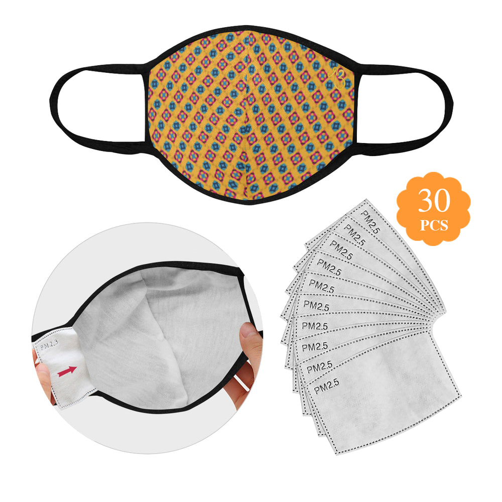 Alternate Print Cotton Fabric Face Mask with filter slot (30 Filters Included) - Non-medical use