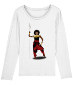 AfriBix Warrior African Queen Womens Long Sleeve T-Shirt